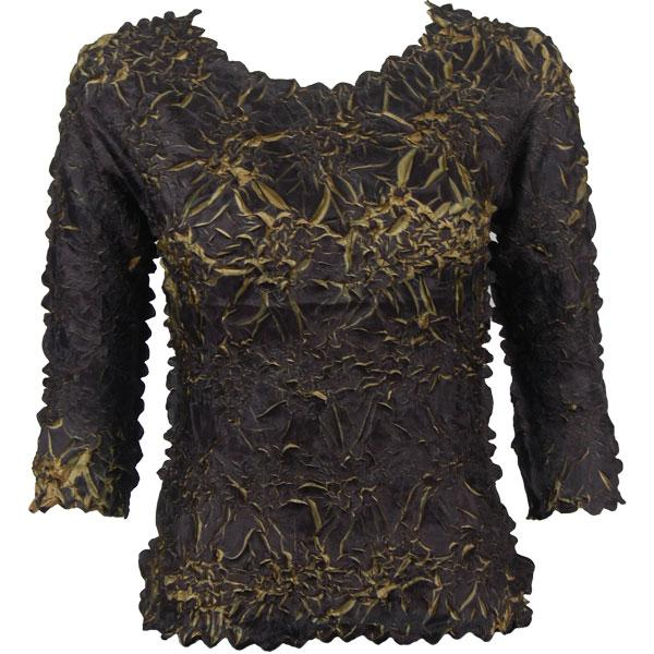 Wholesale Origami - Three Quarter Sleeve Black - Gold - One Size (S-XL)