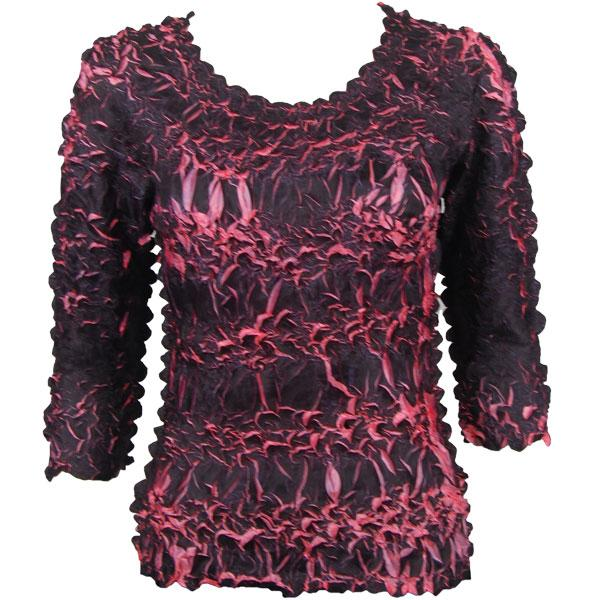 Wholesale Origami - Three Quarter Sleeve Black - Coral Pink - One Size (S-XL)