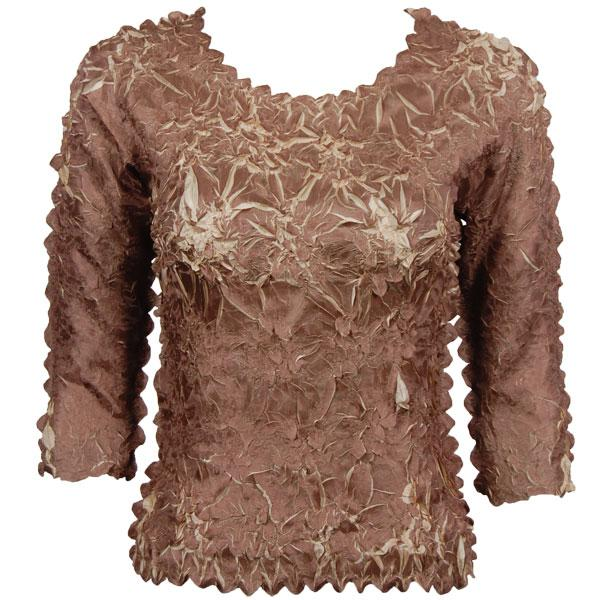 Wholesale Origami - Three Quarter Sleeve Mocha - Beige - Queen Size Fits (XL-3X)