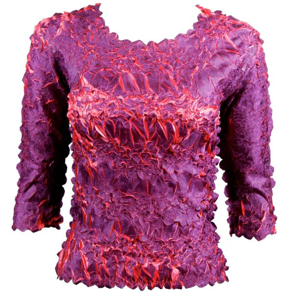 Wholesale Origami - Three Quarter Sleeve Purple - Coral - Queen Size Fits (XL-3X)