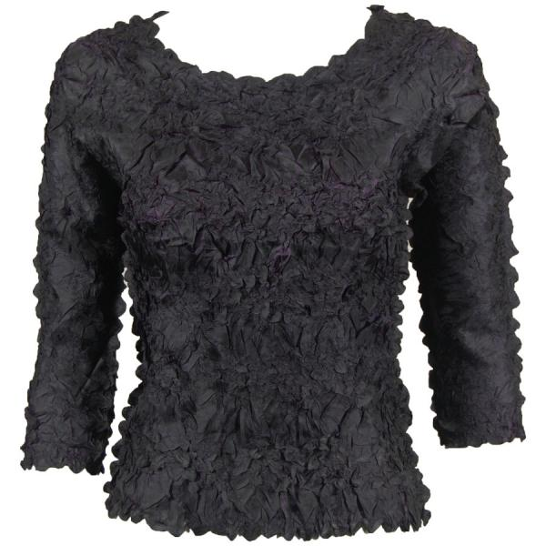 Wholesale Origami - Three Quarter Sleeve Black - Plum - One Size (S-XL)