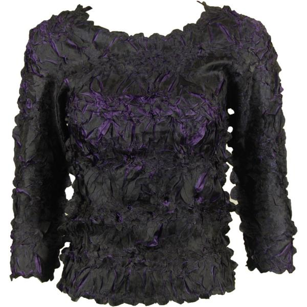 Wholesale Origami - Three Quarter Sleeve Black - Purple - One Size (S-XL)