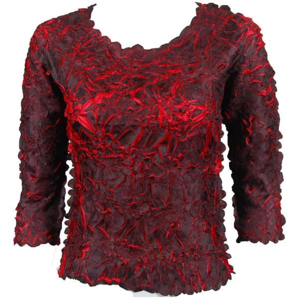 Wholesale Origami - Three Quarter Sleeve Black - Red - One Size (S-XL)