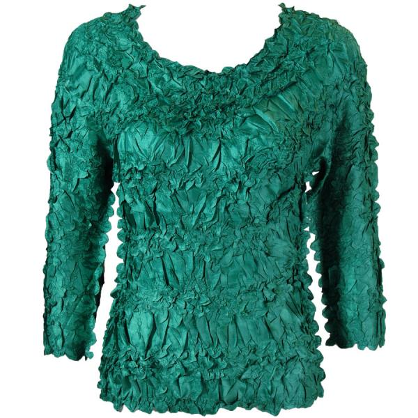 wholesale Origami - Three Quarter Sleeve Solid Emerald MB - One Size (S-XL)