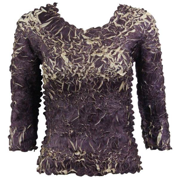 Wholesale Origami - Three Quarter Sleeve Purple - Light Gold - One Size (S-XL)
