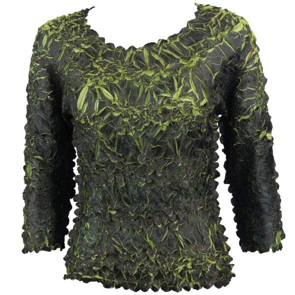 Wholesale Origami - Three Quarter Sleeve Black - Green - One Size (S-XL)