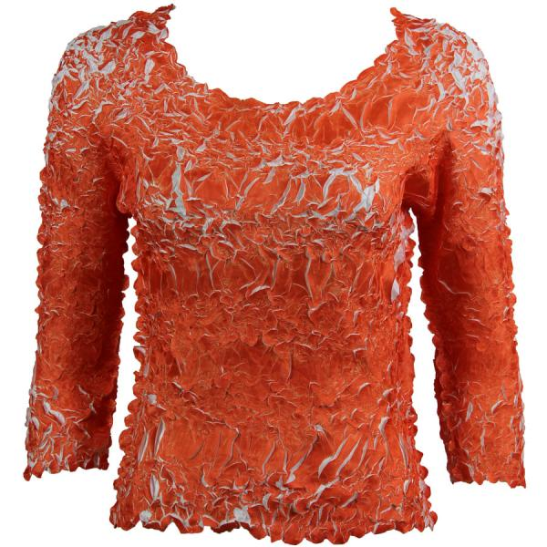 Wholesale Origami - Three Quarter Sleeve Orange - White - One Size (S-XL)