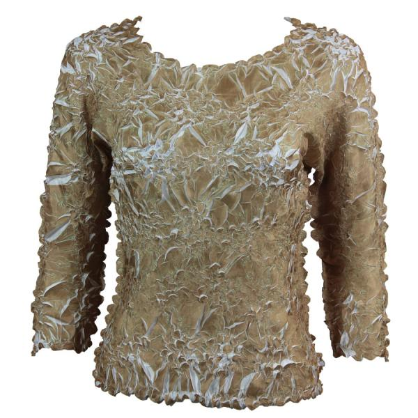 Wholesale Origami - Three Quarter Sleeve Gold - White - One Size (S-XL)