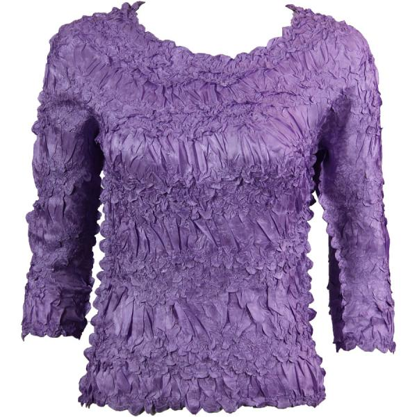 Wholesale Origami - Three Quarter Sleeve Solid Light Orchid - One Size (S-XL)