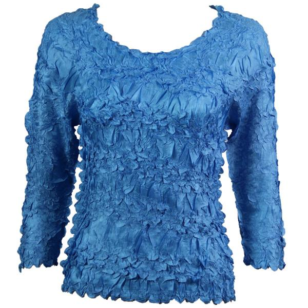 Wholesale Origami - Three Quarter Sleeve Solid Azure - One Size (S-XL)
