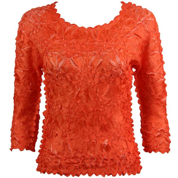 Wholesale Origami - Three Quarter Sleeve Orange - Coral - Queen Size Fits (XL-3X)