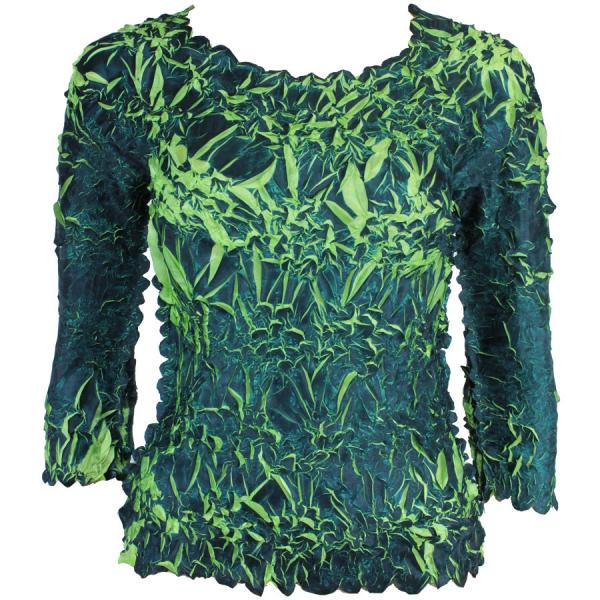 Wholesale Origami - Three Quarter Sleeve Deep Teal - Lime - One Size (S-XL)