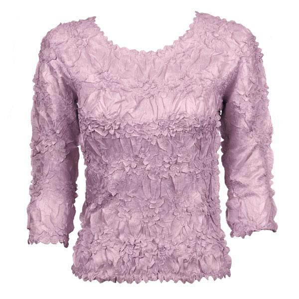 Wholesale Origami - Three Quarter Sleeve Solid Lilac - One Size (S-XL)