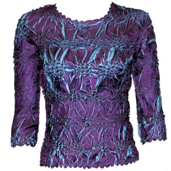Wholesale Origami - Three Quarter Sleeve Purple - Turquoise - One Size (S-XL)