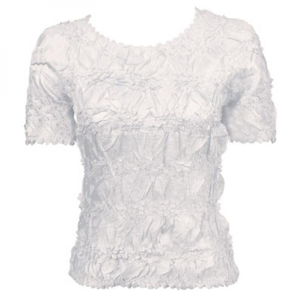 Wholesale Origami - Short Sleeve Solid White - One Size (S-XL)