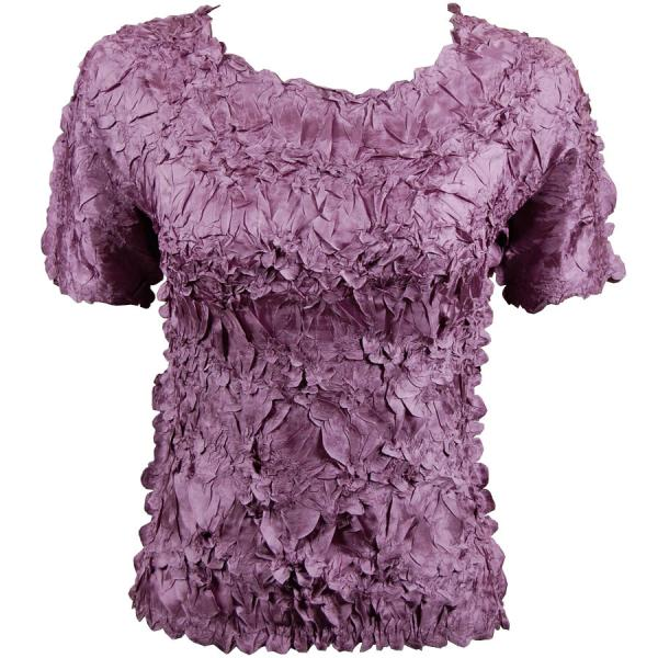 Wholesale Origami - Short Sleeve Solid Grape - One Size (S-XL)