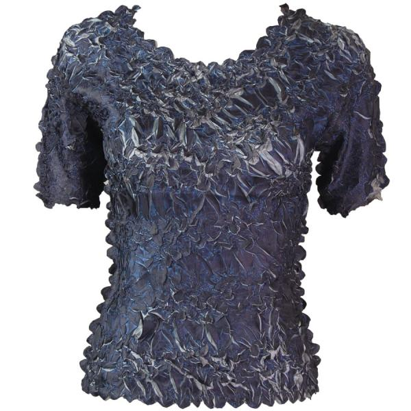 Wholesale Origami - Short Sleeve Dark Blue - Pewter - One Size (S-XL)