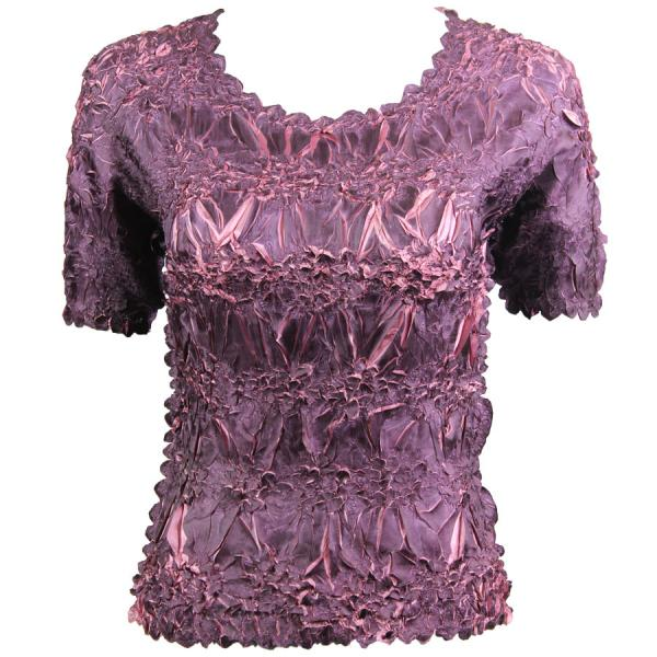 Wholesale Origami - Short Sleeve Purple - Dusty Purple - One Size (S-XL)