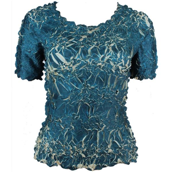 Wholesale Origami - Short Sleeve Deep Teal - Light Gold - One Size (S-XL)