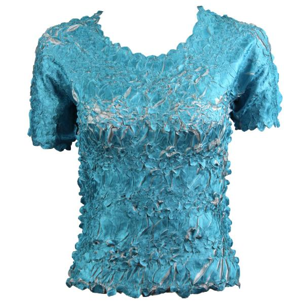 Wholesale Origami - Short Sleeve Turquoise - Pearl - One Size (S-XL)