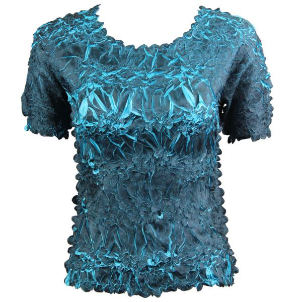 Wholesale Origami - Short Sleeve Black - Turquoise - One Size (S-XL)