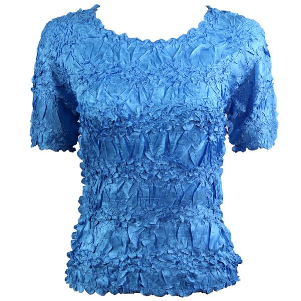 Wholesale Origami - Short Sleeve Solid Azure - One Size (S-XL)