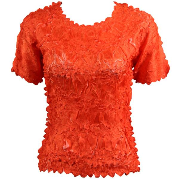 Wholesale Origami - Short Sleeve Orange - Coral - Queen Size Fits (XL-3X)