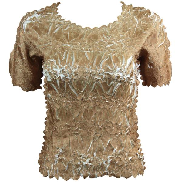Wholesale Origami - Short Sleeve Champagne - Ivory - Queen Size Fits (XL-3X)