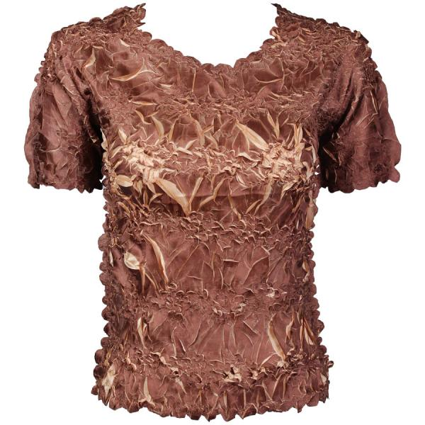 Wholesale Origami - Short Sleeve Chocolate - Champagne - One Size (S-XL)