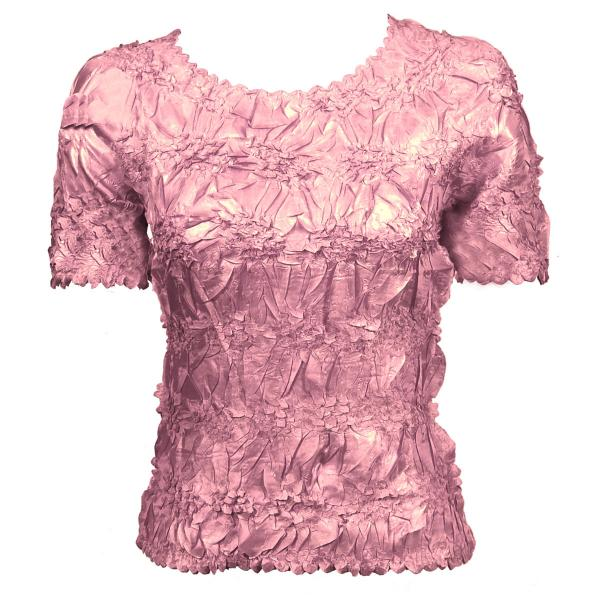 Wholesale Origami - Short Sleeve Solid Lilac Pink - One Size (S-XL)