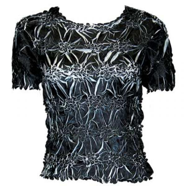 Wholesale Origami - Short Sleeve Black - White - One Size (S-XL)