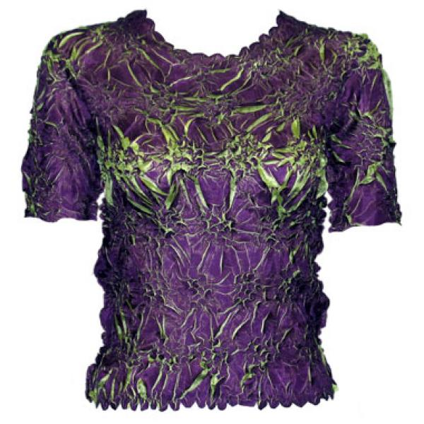 Wholesale Origami - Short Sleeve Plum - Spring Green - One Size (S-XL)