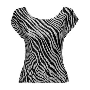 Wholesale  Zebra Stripe Satin Mini Pleat - Cap Sleeve - One Size (S-L)