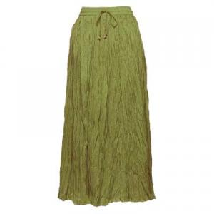 Wholesale Skirts - Long Cotton Broomstick with Pocket 503 Solid Olive -