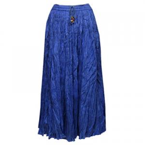 Wholesale Skirts - Long Cotton Broomstick with Pocket 503 Solid Royal -