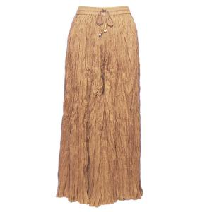 Wholesale Skirts - Long Cotton Broomstick with Pocket 503 Solid Light Brown -