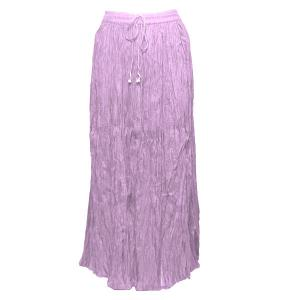 Wholesale Skirts - Long Cotton Broomstick with Pocket 503 Solid Lilac -