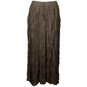 Wholesale Skirts - Long Cotton Broomstick with Pocket 503 Solid Granite -