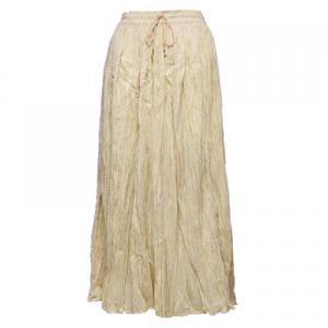Wholesale Skirts - Long Cotton Broomstick with Pocket 503 Solid Beige -
