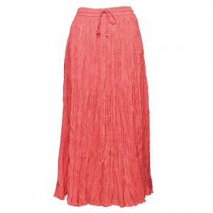 Wholesale Skirts - Long Cotton Broomstick with Pocket 503 Solid Coral -