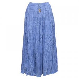 Wholesale Skirts - Long Cotton Broomstick with Pocket 503 Solid Denim -