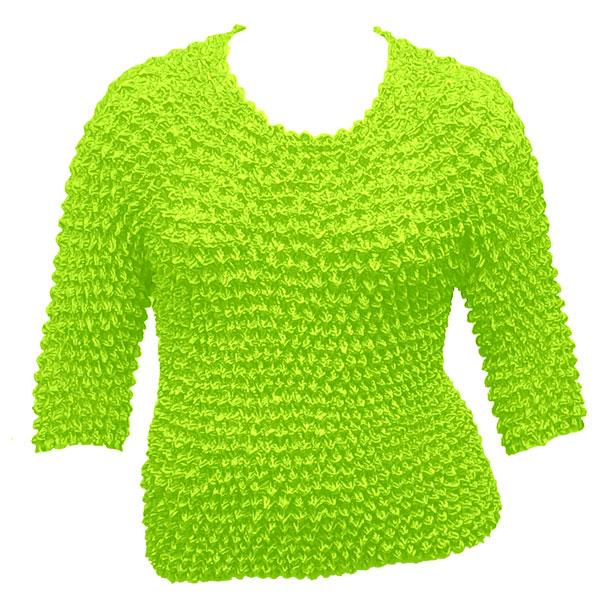 wholesale Queen - Gourmet Popcorn - Three Quarter Sleeve Vivid Green - Queen Size Fits (XL-3X)