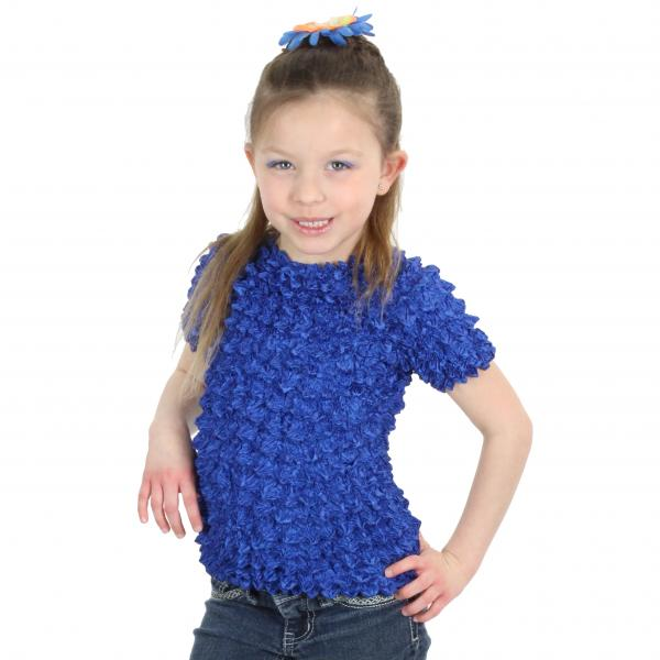 Wholesale Silky Touch Popcorn - Kids Size  Short Sleeve Royal Silky Touch Popcorn Top - Kids Size - Toddler - Tween
