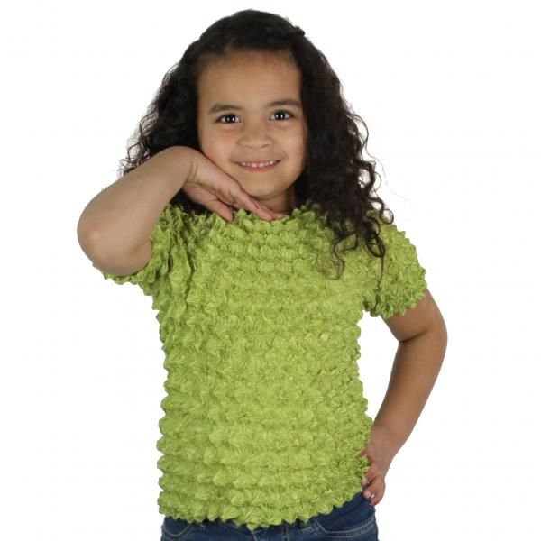 wholesale Silky Touch Popcorn - Kids Size  Short Sleeve Leaf Green - Toddler - Tween