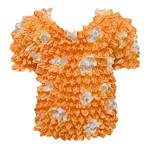 wholesale Silky Touch Popcorn - Kids Size  Short Sleeve Pumpkin-White Dots Silky Touch Popcorn Top - Kids Size - Toddler - Tween