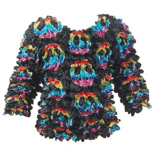 Wholesale Silky Touch Popcorn - Kids Size  Long Sleeve Peace Signs on Black - Toddler - Tween
