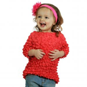 Wholesale Silky Touch Popcorn - Kids Size  Short Sleeve Coral - Toddler - Tween