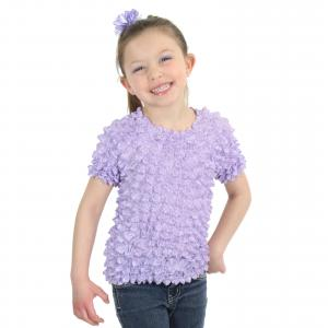 Wholesale Silky Touch Popcorn - Kids Size  Short Sleeve Lilac - Toddler - Tween