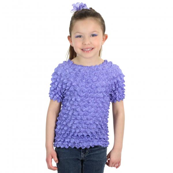 Wholesale Silky Touch Popcorn - Kids Size  Short Sleeve Violet Silky Touch Popcorn Top - Kids Size - Toddler - Tween