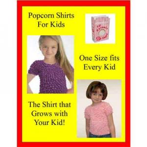 Wholesale Silky Touch Popcorn - Kids Size  Kid's Popcorn Sign (8.5 X 11) Free with Purchase -